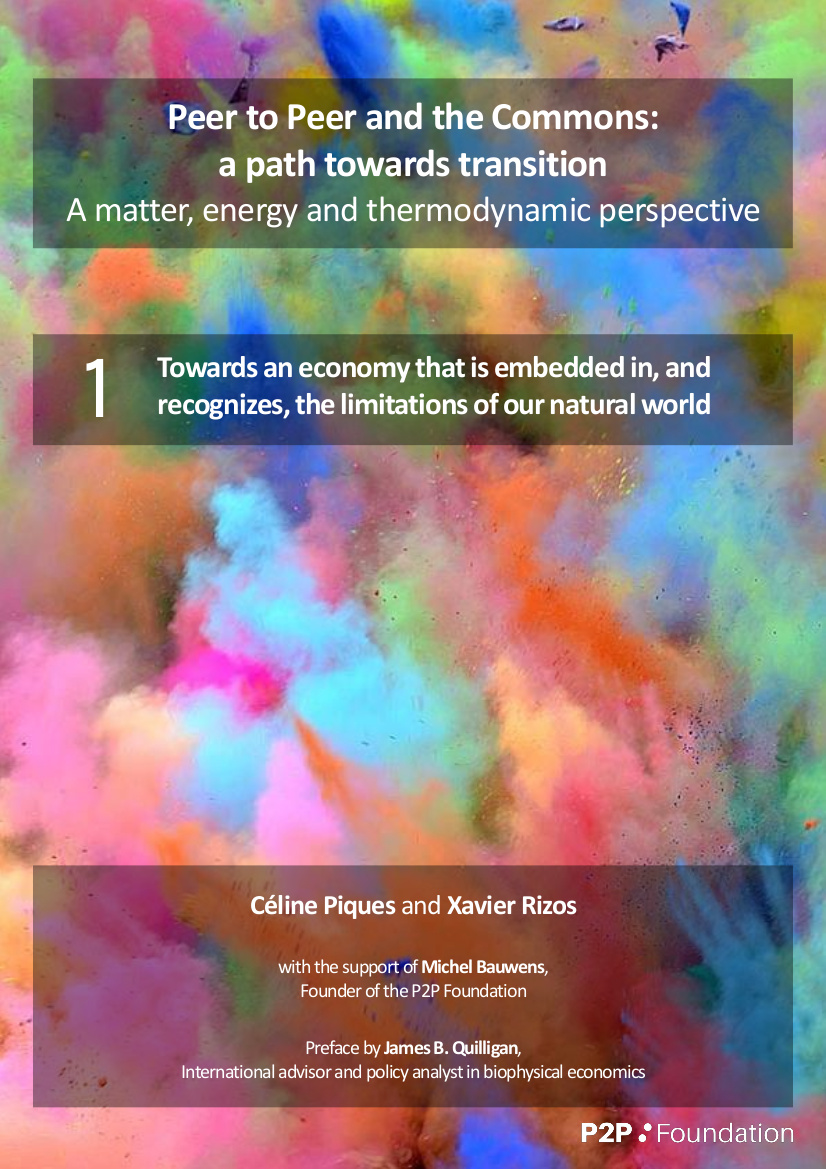 Peer to Peer and the Commons:  A matter, energy and thermodynamic perspective I